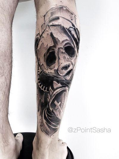 Freehand. One session. #zpointtattoo #sashazpoint #graphictattoo #panda #pandatattoo more of my tattoos check out https://www.facebook.com/Zpointt/ Or https://www.instagram.com/zpointsasha