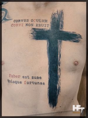 Cross and words
