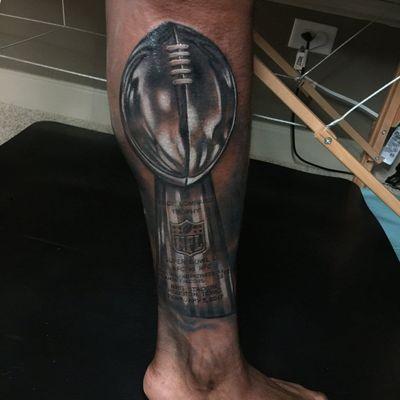 Tattoo by Jesse Rix on Malcolm Mitchell #JesseRix #MalcolmMitchell #NFL #SuperBowl #SuperBowl2019 #Rams #Patriots #football #footballtattoos #NFLtattoos #SuperBowltattoos