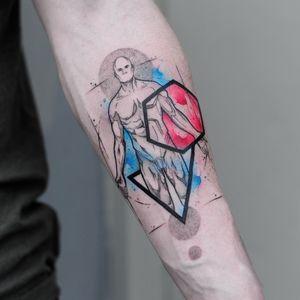 Man/Ai #sketch #human #anatomy #geometry #watercolor