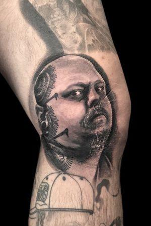 Paulbooth #paulbooth #portraittattoo #blackandgrey #legendartist