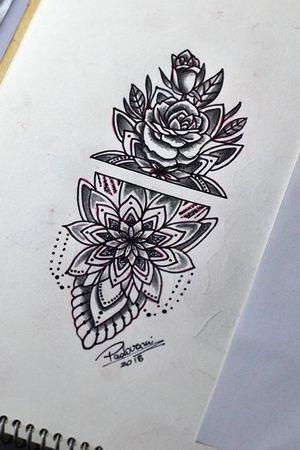 #mandala #rose #rosa #adornos #tattoosketch #thiagopadovani