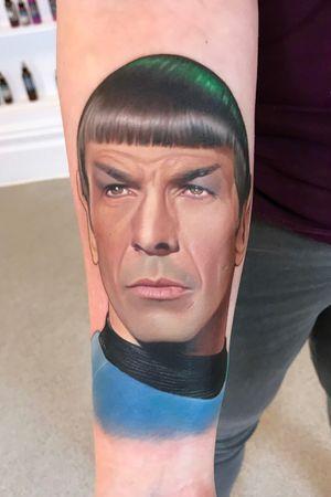 The legendary Leonard Nimoy as Mr. Spock