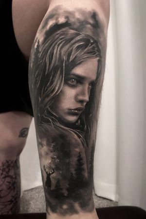 healed tattoo #koreatattoo #tattooconvention #blackgreyleg #progresstattoo #blackandgreytattoodesign