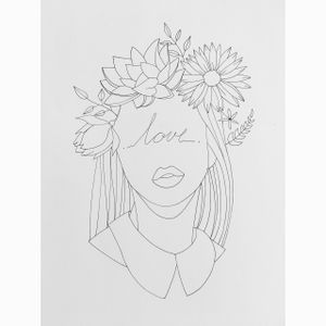 #flowers #sketch #liner #black