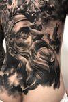 #blackandgrey #statuetattoo #tattoomodel #koreatattoo #tattooconvention #oldman