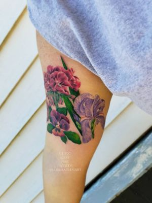Color realism flowers