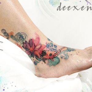 Saving Grace  Contact: deexentattooing@gmail.com #inktattoo #fishtattoo #tatouage #watercolortattoo #watercolortattoos #watercolourtattoo #sketchtattoo #colortattoos #tattoo2me #wctattoos