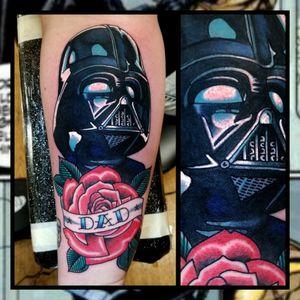 Darth Vader... #inkfusion #inkfusionempire #geektattoo #geekedouttattoos #geeksterink #geekytattoos #comicbooktattoo #nerdytattoos #nerdtattoo #nerdtattoos #brightandbold #traditionaltattoo #realtattoos #realtraditional #tattoos #tattooflash #neotraditional #solidtattoo #lasvegastattooer #darthvader #darthvadertattoo #starwars #starwarstattoo