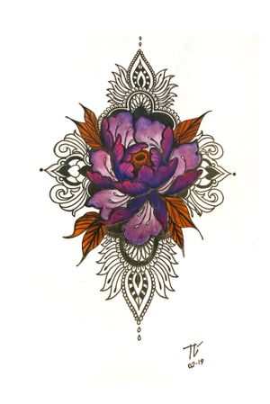 #mandala #ornamental #floral #peony