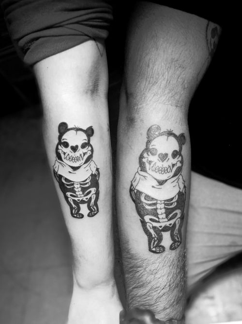 #tattoos #winniethepooh #skulls  #blackandgreytattoo #Black  #jaser #tattoo #ink #MexicoCity