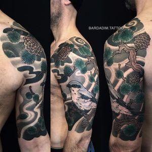 Japanese tattoo. @bardadim.studios  #japanesetattoo #japaneseink #inked #japanesesleeve #koitattoo #koisleeve #asiantattoo #irezumi #wabori #traditionaltattoo #irezumicollective #fitnessmotivation #fitness #tattoovideo #nyctattoo #tattoovideos #ttt #wtt #tttism #tattoo #tattooartist #tattooideas #blackandgreytattoo #colortattoo #tattoodo #tat