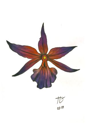 #orchid #watercolor #flower