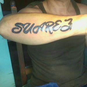 #Suarez #tatooartist #letrastattoo #letras #erick_suarez_1