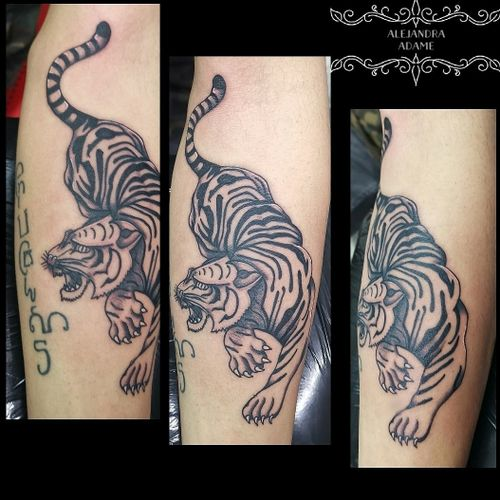 To bring force... A khmer tigre... In progress... #tattoo #tatuaje #tatouage #tattootigre #tigretattoo #tatuajedetigre #tatuajetigre #tatouagetigre #khmertattoo #khmertigre #tigre #tattoodo #tattoolover #tattoolovers #ferneyvoltaire #tattooferneyvoltaire #sakyanttattoo #sakyant
