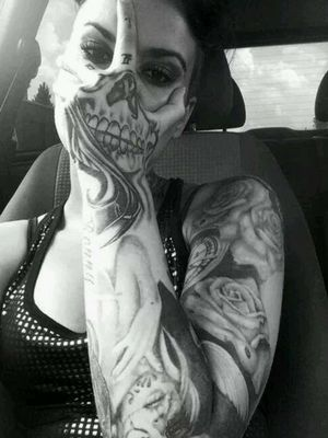 This skull in the top of the hand is most likely going to be my next tattoo.. Mine will be the same concept but styled more to my taste and for the sake of originality..