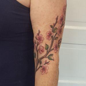 Cherry blossom branch #tattoo #tattoolife #tattooart #flowers #envyneedles #rosewatertattoo #tattoos #tattooartist #art #ink #inked #lynntattoos #inkedmag #portland #portlandtattooers #portlandtattoo #pdx #pdxartists #pdxtattooers #pdxtattoo #tattooed #tatsoul #fusiontattooink #fkirons #bestink #vegan #tattoosnob #cherryblossomtattoo #crueltyfree #eternalink