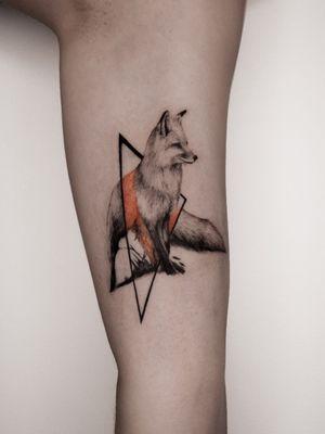 fox tattoo by ege onat gezer #egeonatgezer