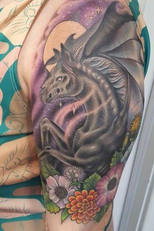 Harry Potter inspired demon horse#tattoo #tattoolife #tattooart #HorseTattoos #envyneedles #rosewatertattoo #tattoos #tattooartist #art #ink #inked #lynntattoos #inkedmag #portland #portlandtattooers #portlandtattoo #pdx #pdxartists #pdxtattooers #pdxtattoo #tattooed #tatsoul #fusiontattooink #fkirons #bestink #vegan #tattoosnob #stencilstuff #crueltyfree #HarryPotterTattoos