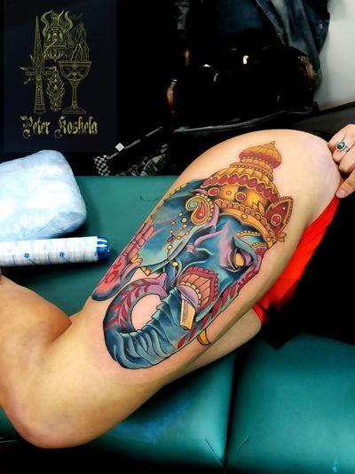 The old Gods #hindu #ganesha #Yoga #color #colortattoo #ohm