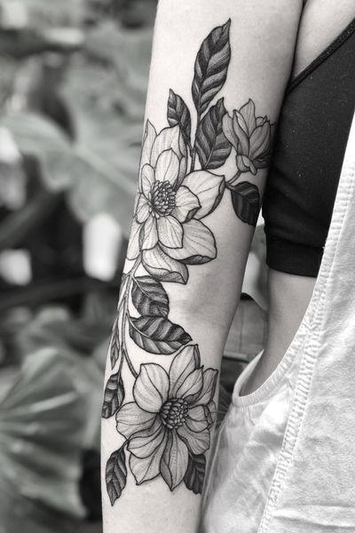 • Healed Work • #tattoo #femininetattoo #flowers #blackwork #flores