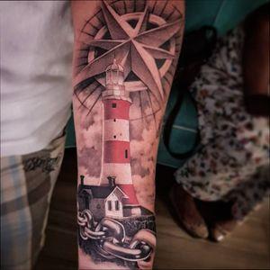 O farol. #lightgouse #tattoo #tatouage #lightgousetattoo #farol #blackandgray #felipemellotattoo