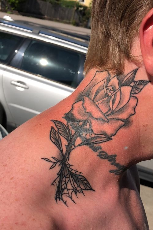 Healed Neo-Traditional Rose