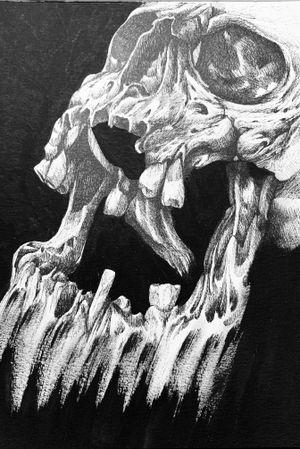 #skull #drawingskull #blackwork #taot #bolognatattooconvention #luzerntattoo #portotattoo #tattoobh
