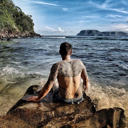Freehand samoa tattoo #samoantattoos #samoantattoo #samoan  #PolynesianTattoos #polynesiantattoo #freehandtattoo #tribaltattoo #tatausamoa