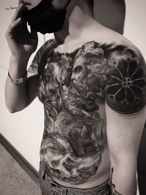 hongjong tattoo convention 2nd. #statuetattoo #tattooconvention#blackandgrey #koreatattoo #seoultattoo