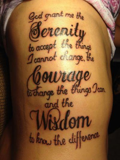 Serenity prayer...#prayer #scripttattoo #lettering #quotes #black #byjncustoms