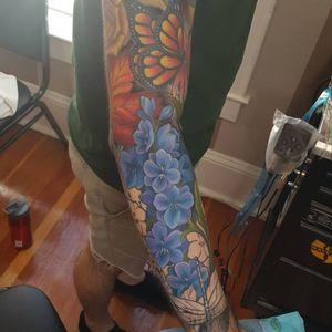 Part of a floral sleeve #tattoo #tattoolife #tattooart #saniderm #envyneedles #rosewatertattoo #tattoos #tattooartist #art #ink #inked #lynntattoos #inkedmag #portland #portlandtattooers #portlandtattoo #pdx #pdxartists #pdxtattooers #pdxtattoo #tattooed #tatsoul #fusiontattooink #fkirons #bestink #vegan #tattoosnob #stencilstuff #crueltyfree #eternalink