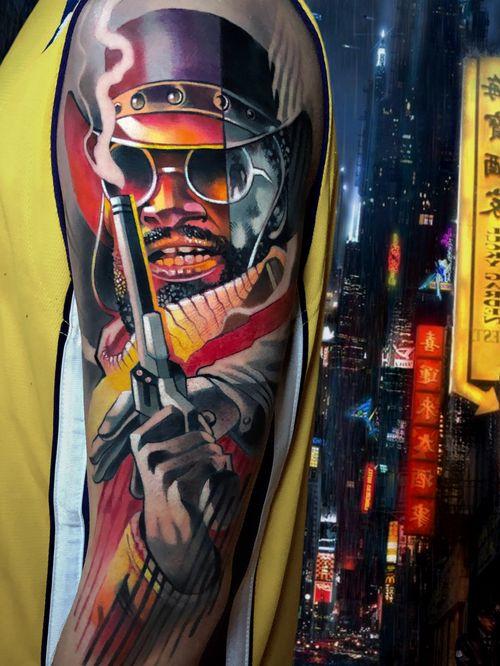 #DjangoUnchained #Django #Tarantino #tattoocolor