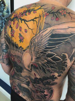 Crane backpiece:) #tattoodo #inkjecta #wearesorrymom #killerinktattoo