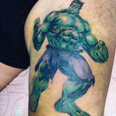 #hulk #MarvelTattoos #fullcolor