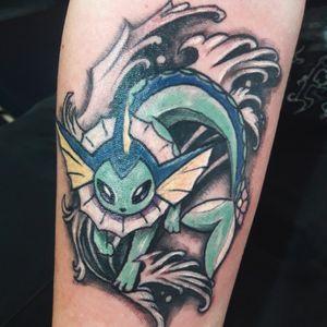 Vaporeon Pokemon tattoo