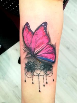 #Tattoo #inkmachines #h2ocean #papariz #buterflytattoo