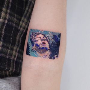 Tattoo by SooSoo Tattoo #SooSootattoo #movietattoos #filmtattoos #movie #film #BlueistheWarmestColor #bue #watercolor #LeaSeydoux #painting