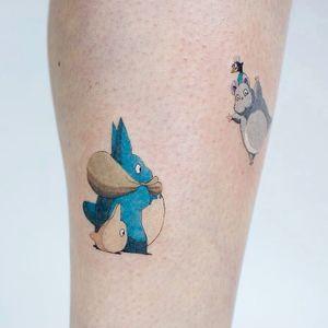 Tattoo by Daldam #Daldam #movietattoos #filmtattoos #movie #film #illustrative #color #anime #manga #totoro #forestspirit