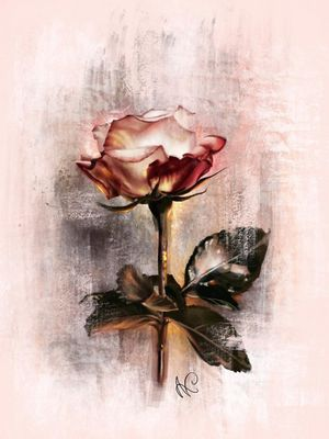 Digital rose painting 💗