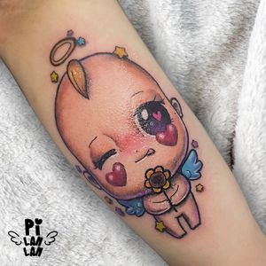 It's the placement where the closest to my heart.👶🏻🌻 #plinthespace #baby #babytattoo #kawaii #kawaiitattoo #supercutetattoos #supercute #cute #cutetattoo #sparkle #sparkletattoo #tattoo #入墨紋身 #女紋身師 #刺青 #紋身 #台灣刺青