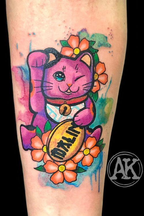 #tattoo #tatoo #tattoos #tatto #tattooed #tattooist #tattooart #tattooing #tatuagem #tattoodo #tattoolove #tattooer #tatoos #colortattoo #colortattoos #watercolor #watercolortattoo #manekineko #manekinekotattoo #femaleartist #femaletattooartist #artist #ankiekuis #sweetarttattoo #waalwijk #tribaltrading #tilburg