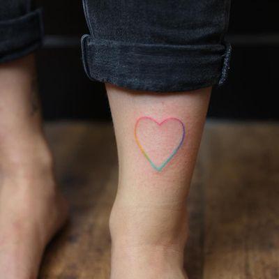 Tattoo by Yar Put #YarPut #valentinesdaytattoos #valentinestattoos #valentinesday #valentines #love #heart #handpoke