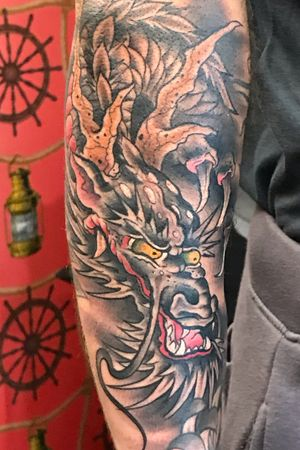Freehand Japanese Ryu by Kev