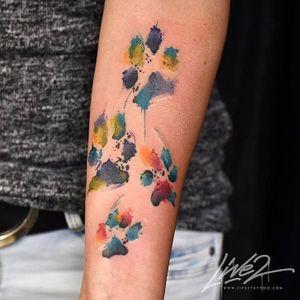 Live2 – Graphic Abstract Watercolor Tattooing