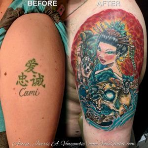 #vonzombie #vnzmb #tattoo #tattooartist #travelingart #artist #designer #creativity #creative #ink #international #worldwide #bodyart #illustration #coverup