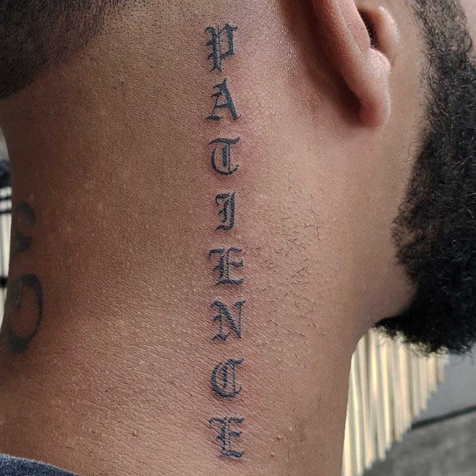 Patience tattoo by Nikita Williams #NikitaWilliams