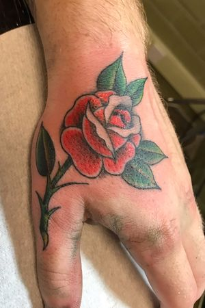 Freehand Traditional style rose by Kev