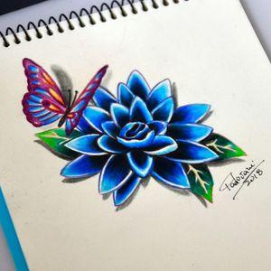 #tattoosketch #lotus #lotusflower #butterfly #borboleta #thiagopadovani