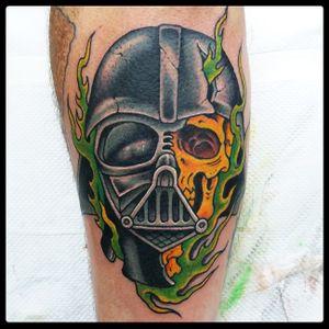 Darth Vader tattoo 2018 #starwars #starwarstattoo #darthvadertattoo #darthvader #traditionaltattoo #romatattoo